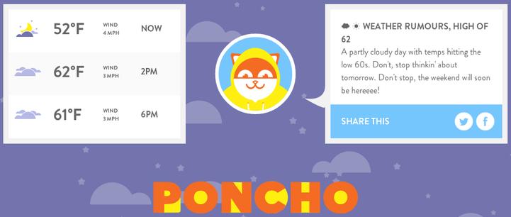라이크 어 Poncho: JiveScript 날씨 챗봇