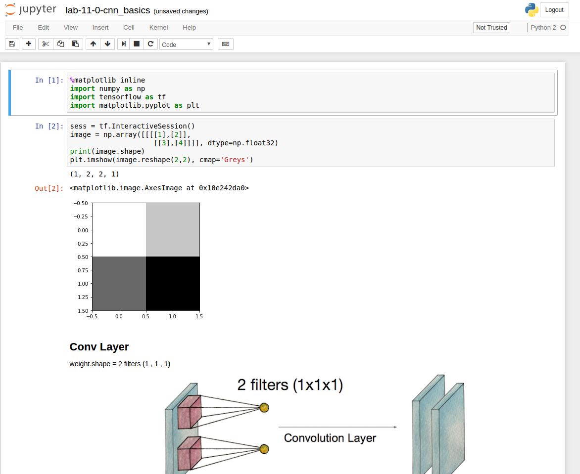 파이썬 쥬피터를 이용한 텐서플로우 개발환경 구성하기