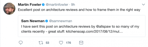 마틴 파울러의 한 트윗