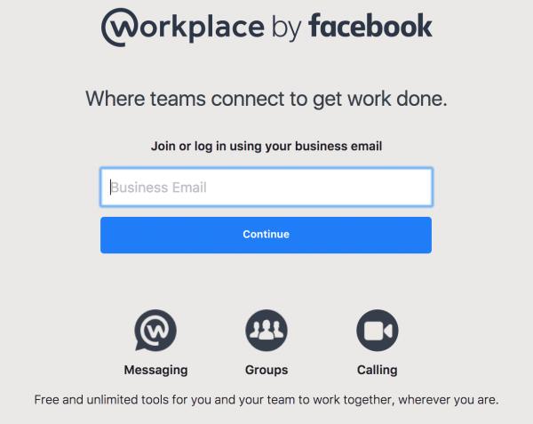 Workplace 로그인 화면