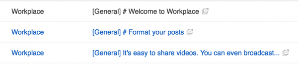 메일을 통한 Workplace 통지