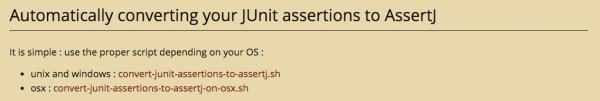 출처 : http://joel-costigliola.github.io/assertj/assertj-core-converting-junit-assertions-to-assertj.html