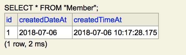 그림. Date와 Timestamp로 저장된 LocalDate, LocalDateTime