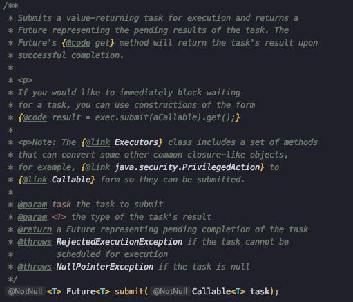 ExecutorService submit 메소드
